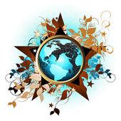 Mondo floreale — Vettoriale Stock