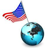 Usa świat — Wektor stockowy