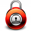 Padlock detailed icon — Stock Vector