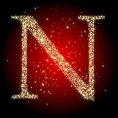 Letter star N — Stock Vector
