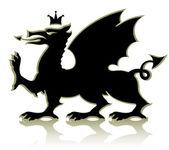 Hanedan ortaçağ dragon — Stok Vektör