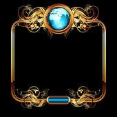 Mundo con recargado — Vector de stock