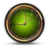Saatler yeşil — Stok Vektör