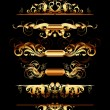 Set of golden design elements - Stock Vector
