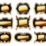 Set of golden frames — Stock Vector #3820322