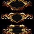 Set of golden frames — Stock Vector