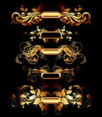 Conjunto de elementos de design dourado — Vetorial Stock