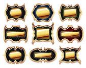 Set of golden frames — Stock Vector