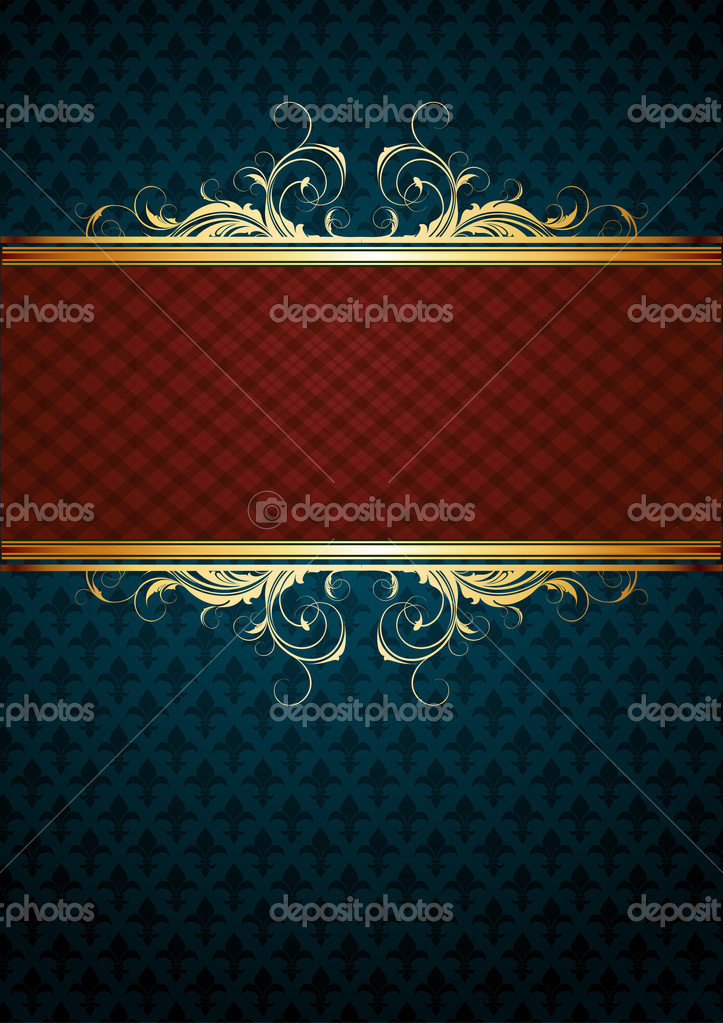 Ornate frame, this  illustration may be useful  as designer work — Stock Vector #3820171