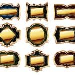 Set of golden frames — Stock Vector #3869216