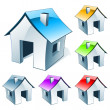 Web icon house - Stock Vector
