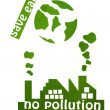 Save earth from pollution — Stock Photo