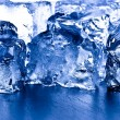 Closeup ice cubes — Stock Photo