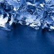 Ice cubes vertical with copy space — Stock Photo