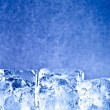 Fresh blue ice cubes background — ストック写真