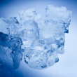 Blue toned ice cubes — Stock Photo