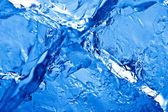 Blue toned ice background — Stock Photo