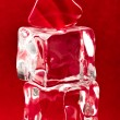 Red heart on two ice cubes — Stock Photo #3411388