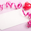 Blank card valentine background — Stock Photo