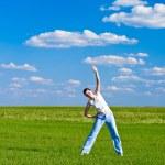 Woman exercising outdoor — Stock Photo #3450740