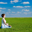 Woman meditating - Stock Photo