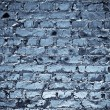 Blue brickwall — Stock Photo