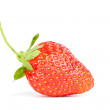 One isolated strawberry - Stock Photo