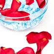 Rose petals in glass bowl — Stock Photo #3451059