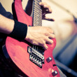 Guitar in man hands — Stockfoto #3451080