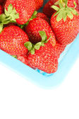 Closeup rosso sfondo di fragola matura — Foto Stock