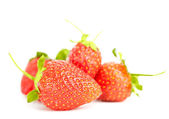 Isolated strawberries heap — Stock Photo