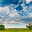 Beautiful skies above  the plain — Stock Photo