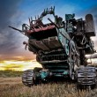 Terrible combine - Stock Photo