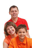Happy family closeup portrait — Stock Photo