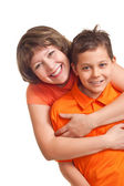 Mother embarce her son — Stock Photo