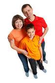 Family wide angle portarait — Stock Photo