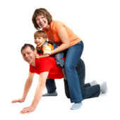 Family playing — Stock Photo