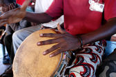 Djembe,perussion. Typical african instrument — Stock Photo
