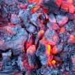 Stock Photo: Embers of fire