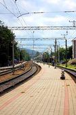 Commuter railway station — Stock Photo