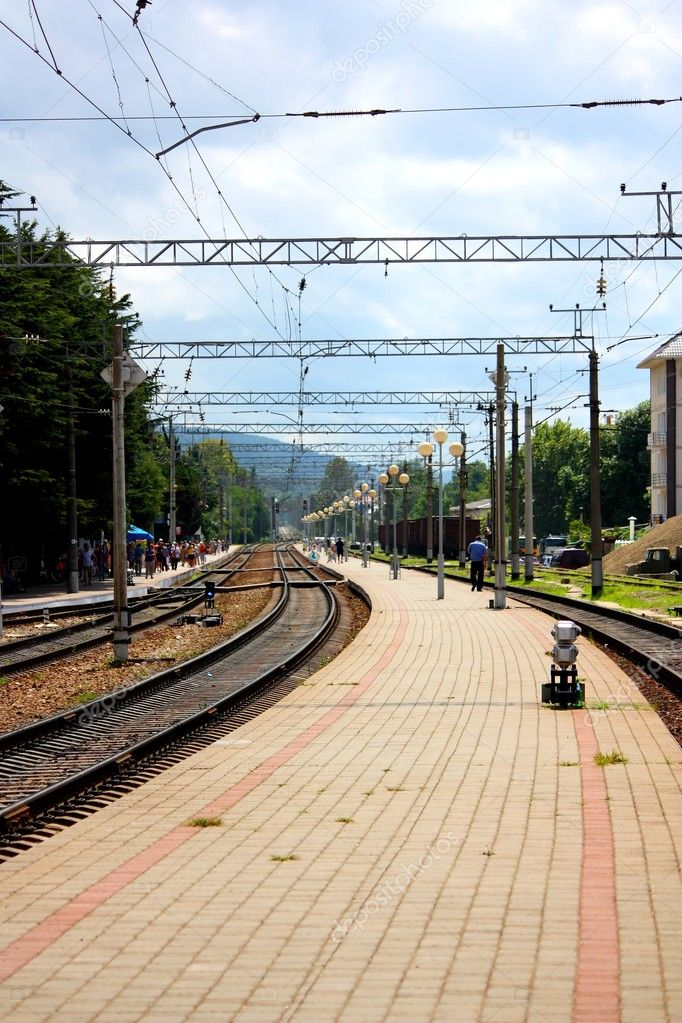 Small commuter railway station of Sochi, Russia. — Stock Photo #3833845