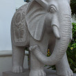 Stone elephant statue - Stock Photo