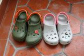 Family sandals — Stock Photo