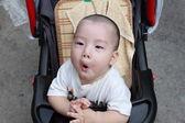 Baby Grimace — Stock Photo