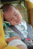 Baby sleep in car — Stock Photo