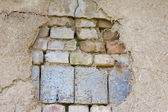 Aging brick wall — Stock Photo