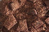 Chocolate chunks . — Stock Photo