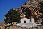 SMALL GREEK CATHOLIC CHAPEL IN RHODES — Stock Photo
