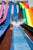 WATER SLIDE AT THE PARK . — Stock Photo