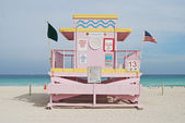 Pink Lifeguard Stand — Stock Photo